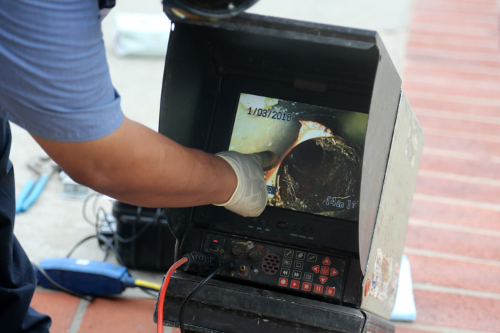 Inspecting a Drain Using Video Imaging